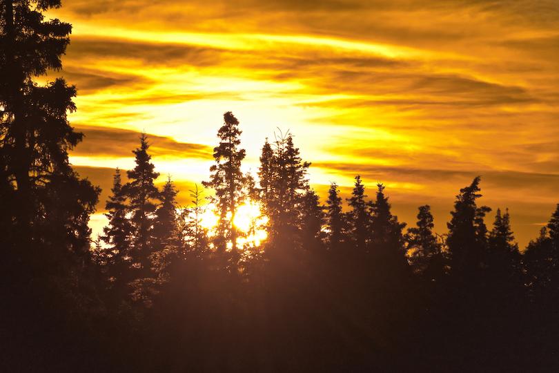 Alaska Sonnenuntergang